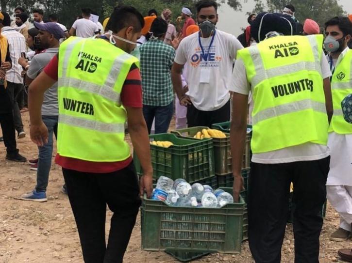 Khalsa Aid farmer protest