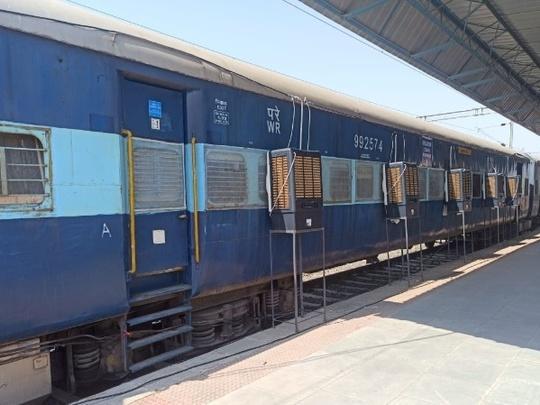 Train coaches truned into covid care unit