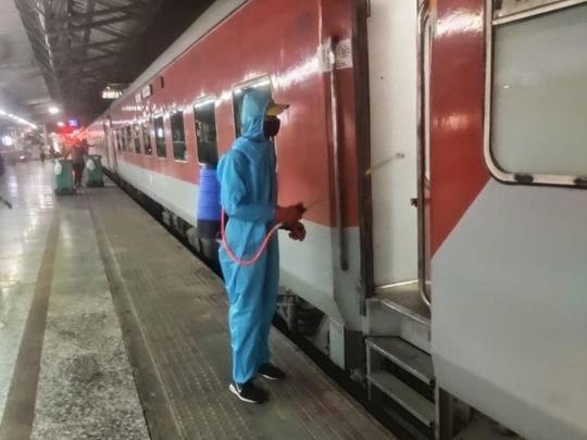 proper Sanitization of trains
