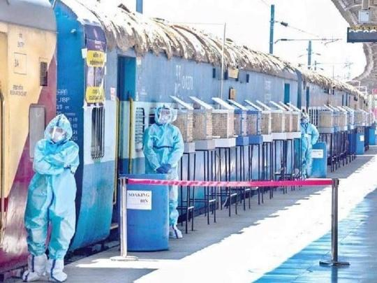 Indian Railways provided isolation beds in 20 Covid Care Coaches in Bhopal