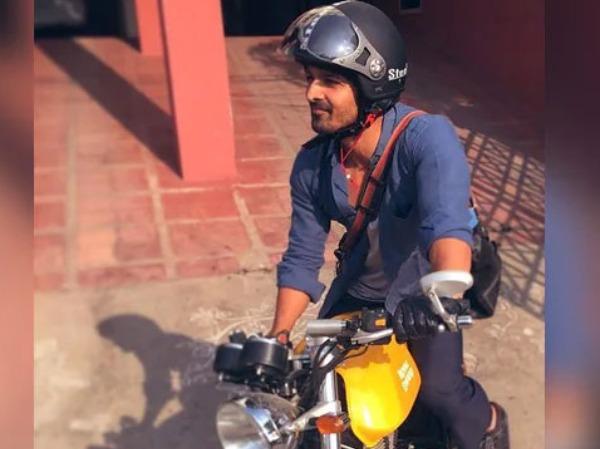 Harshvardhan Rane bike